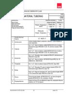 Clase CS2 de tuberias