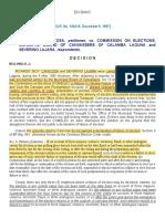 Canicosa vs Comelec [ADJUDICATORY]