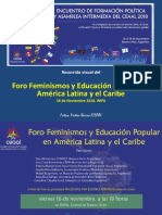 Recorrido Visual Foro Feminista CEAAL EFPyAI 16nov2018