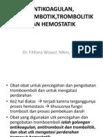 Antikoagulan, Antitrombotik,Trombolitik Dan Hemostatik