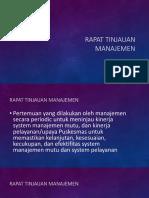 9. Rapat Tinjauan Manajemen