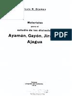 materiales para el estudio de los dialectos ayamán, gayón , jiarjara, ajagua. Luis Oramas.pdf