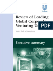 Review of Leading Corporate Venturing Units