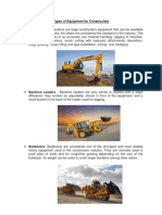 Types of Equipment for Construction
