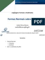 FORMAS NORMAIS DE CHOMSKY E GREIBACH