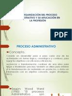 Organizacion Del Proceso Administrativo