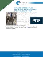 CUVE WINCANTON ENGINEERING D'ACIER INOXYDABLE 400 LITRES AVEC AGITATION ET DOUBLE ENVELOPPE D'OCCASION (REF