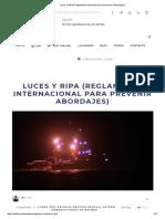 Luces y RIPA (Reglamento Internacional Para Prevenir Abordajes)