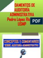 Fundamentos de Auditoria Administrativa