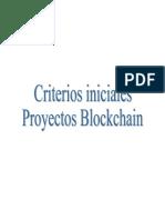 criterios iniciales blockchain
