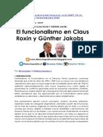Funcionalismo Roxin y Jakobs Ok