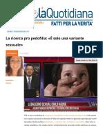 La ricerca pro pedofilia