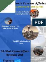 November 2018 4th Week Current Affairs Update
