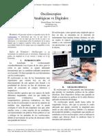 Osciloscopios Analogicos vs Digitales