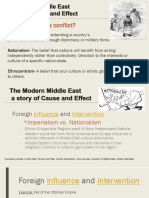 middle east cause and effect