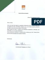 Carta Recomendação Yolanda Xavier