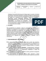 PROBYM-FILT-ELE-PRC-009 Procedimiento Ejecucion Montaje de Postes en Concreto y Metal, Luminarias e Instalaciones en Plataformas