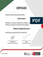 Certificado de Rubricas 2017