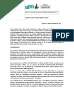 Resolución EIA Huanuco
