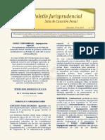 Boletín Jurisprudencial No 30 de 2018 - Sala de Casación Penal