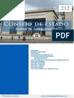 Boletín de Jurisprudencia 212 - Consejo de Estado