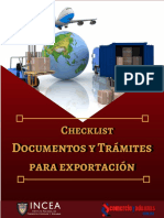 Checklist Doc Tramites Para Exportacion