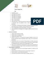 Cronograma de Clases, Instancias de Evaluación y Condición de Aprobación
