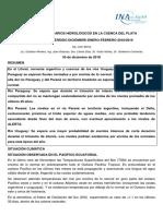Pronostico río Paraná para diciembre (2018) enero y febrero (2019)