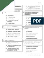 Cuestionario de Celula Procariota y Eucariotas