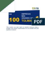 Las 100 Empresas Más Grandes Del Tolima