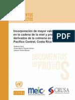 Incorporación de Mayor Valor en La Cadena de La Miel y Productos Derivados de La Colmena en El Pacífico Central, Costa Rica