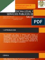 Medicina Legal y Servicios Publicos de Salud Semana 1