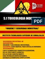 5.1 Toxicologia Industrial y 5.1.1