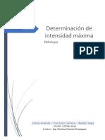 Curvas de Retorno e intensidad maxima