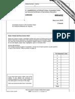 IGCSE_Mathematics_0654_Summer_2005_Question_Paper_2