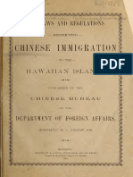 Laws and Regulations Restricting Chinese Immigration 1893