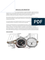 La Brújula Modelo Brunton Es Un Instrumento Básico en Ingeniería Geológica