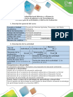 Guía de actividades y rúbrica de actividades - Paso 5 - Evaluación
