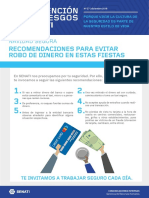 Boletín Prevención Senati N°27 - Recomendaciones para evitar robo de dinero en estas fiestas