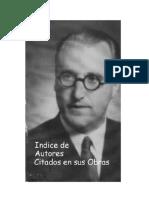 Vicente Amezaga Aresti - Indice de Autores Citados