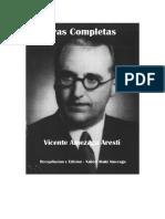 Vicente Amezaga Aresti - Indice Obras Completas y Referencias