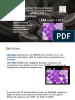 hematologia casos clinicos y descripcion de LMA - M6 y M7