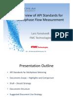 UPM 2016 - Lars -Overview of API Standards for Multiphase Flow Measurement