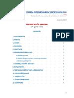 PRESENTACIÓN GLOBAL DE LA ESCUELA INTERNACIONAL DE LÍDERES CATÓLICOS (ELC)