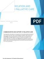 Communication and Support in Palliative Care