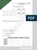Matemáticas,Tema 3, Actividades de Refuerzo
