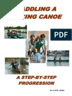 Paddling a racing canoe