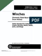 ASME B30.7-2011 Winches