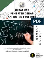 Diktat UAS Genap Aljabar Linier 2018
