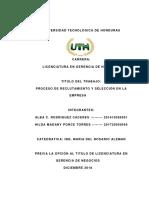 Informe de Recursos Humanos II
